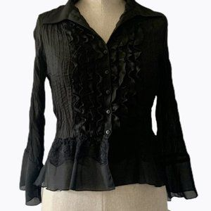 🆕Allison Taylor Ruffled Sheer blouse